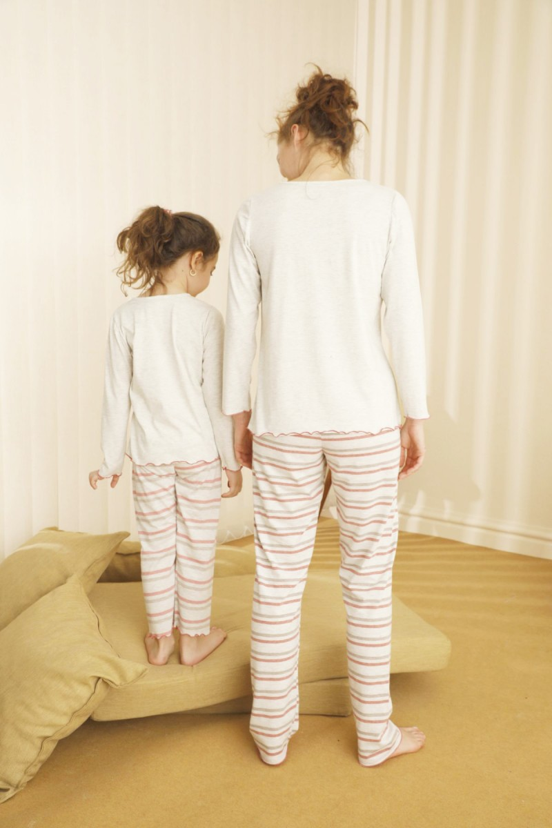 SİYAH İNCİ - Pamuklu Likralı Pijama Takım 21263079
