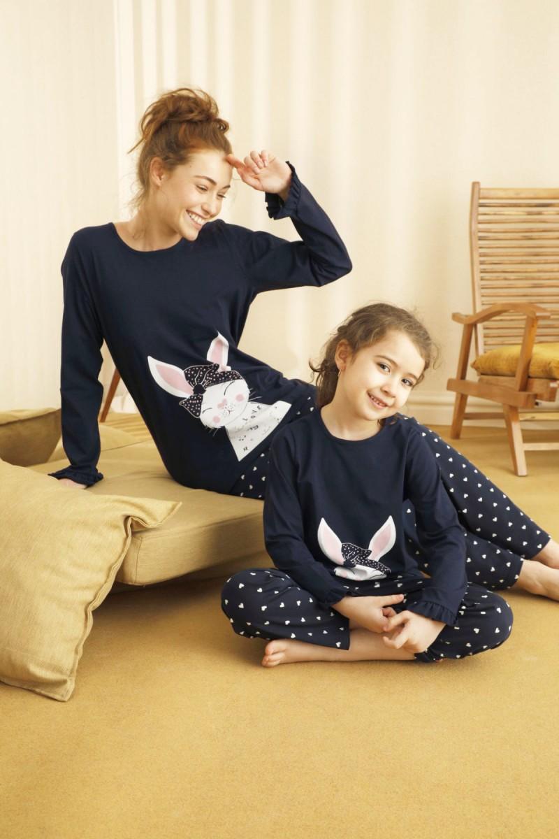 SİYAH İNCİ - Pamuklu Likralı Pijama Takım 21263081