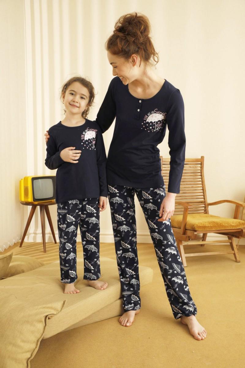 SİYAH İNCİ - Pamuklu Likralı Pijama Takım 21263082