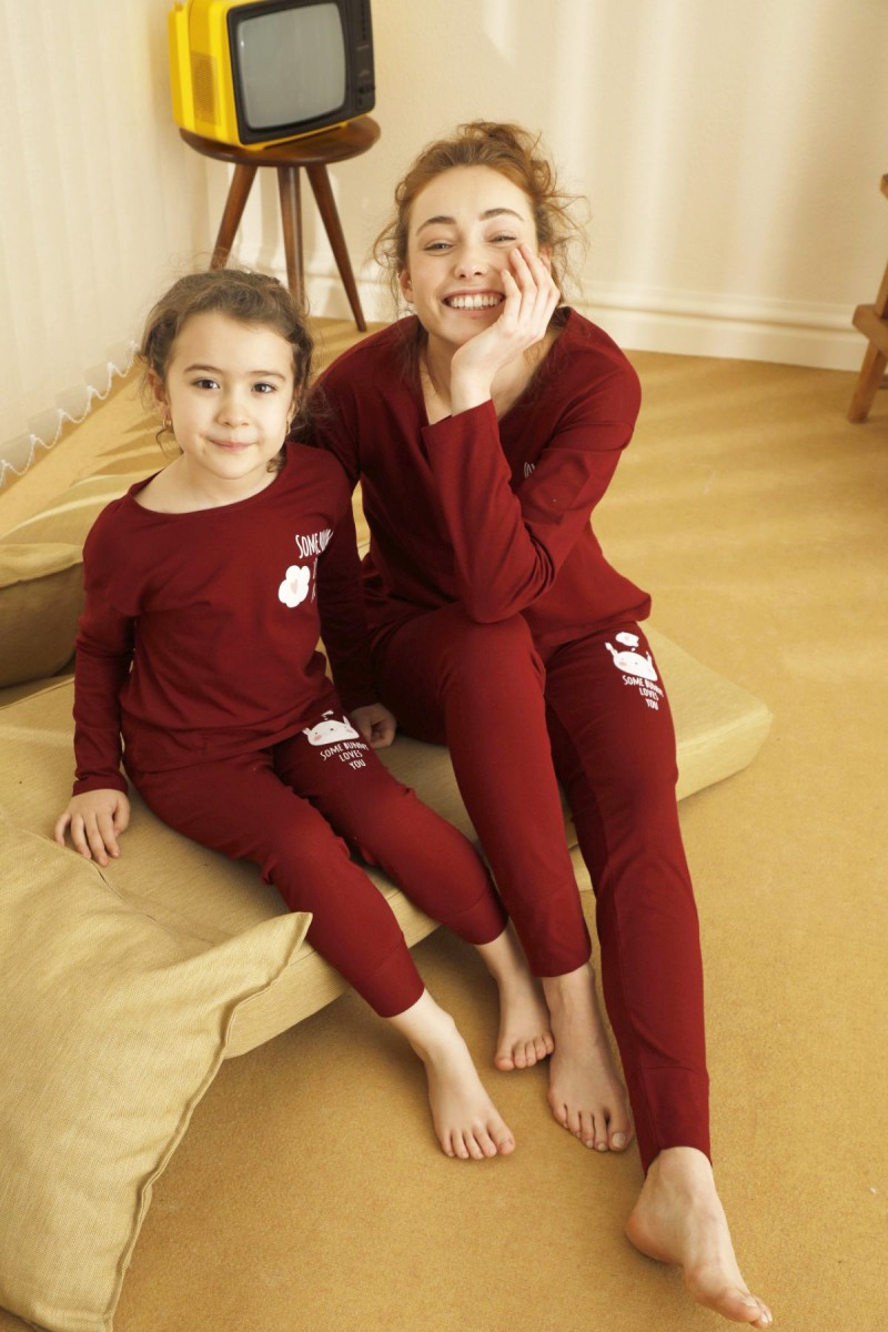 SİYAH İNCİ - Pamuklu Likralı Pijama Takım 21263083