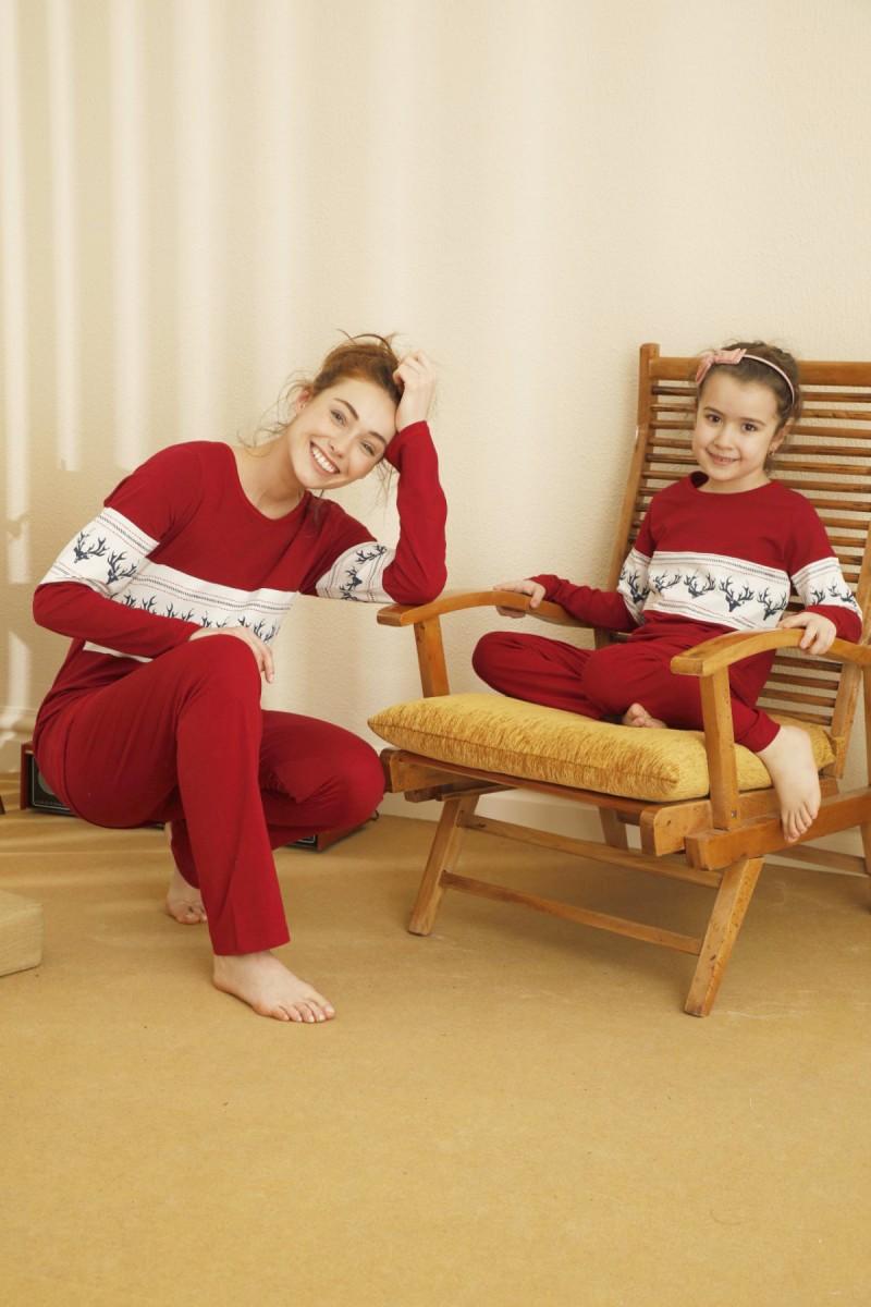 SİYAH İNCİ - Pamuklu Likralı Pijama Takım 21263105