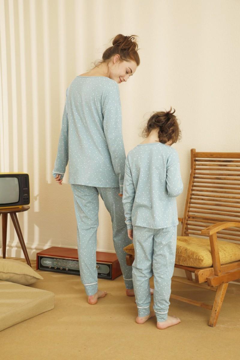 SİYAH İNCİ - Pamuklu Likralı Pijama Takım 21263114