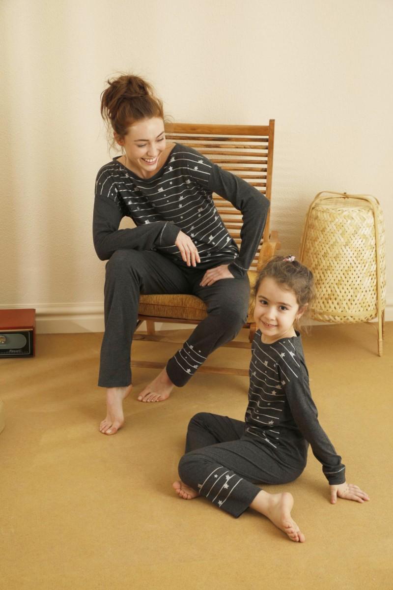 SİYAH İNCİ - Pamuklu Likralı Pijama Takım 21263116