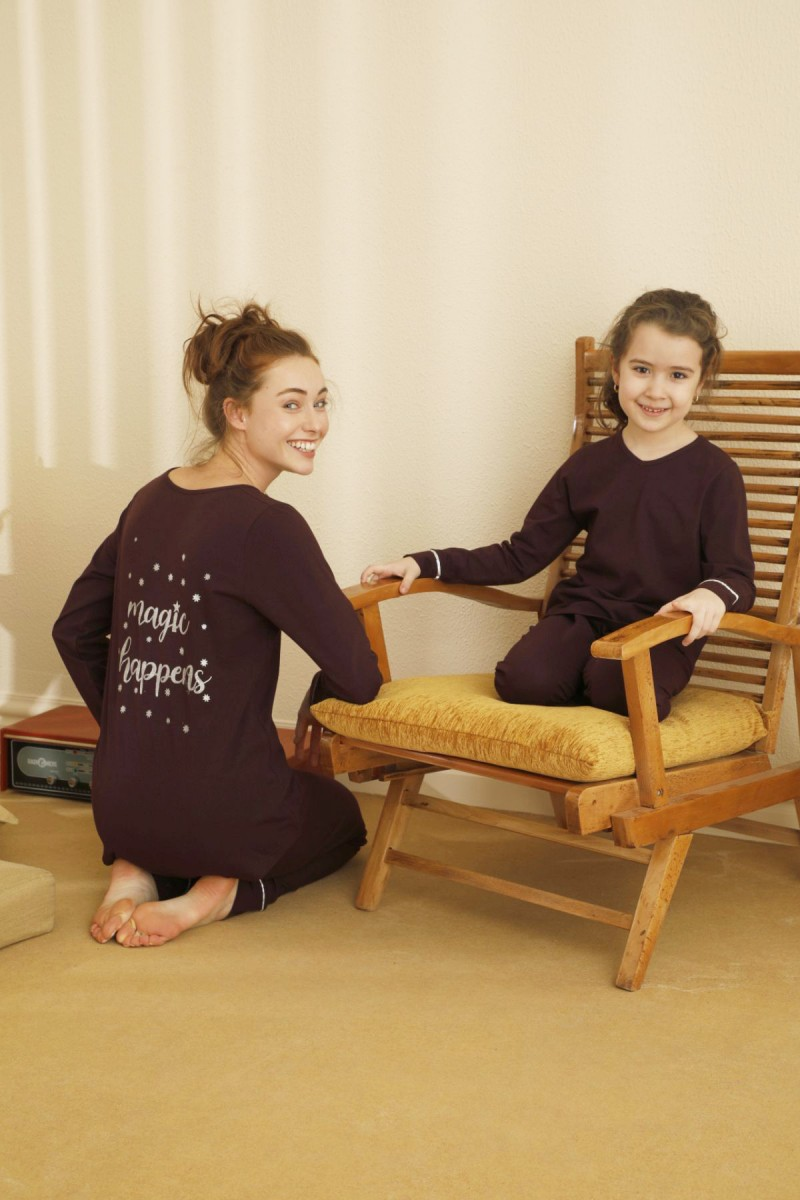 SİYAH İNCİ - Pamuklu Likralı Pijama Takım 21263118