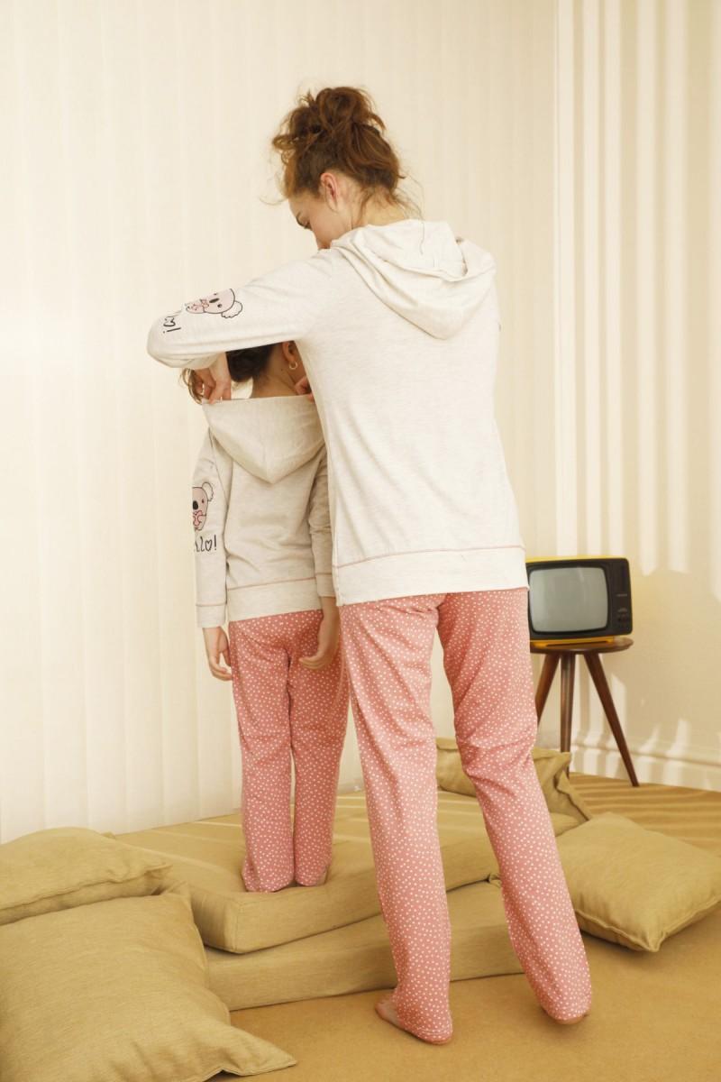 SİYAH İNCİ - Pamuklu Likralı Pijama Takım 21263123