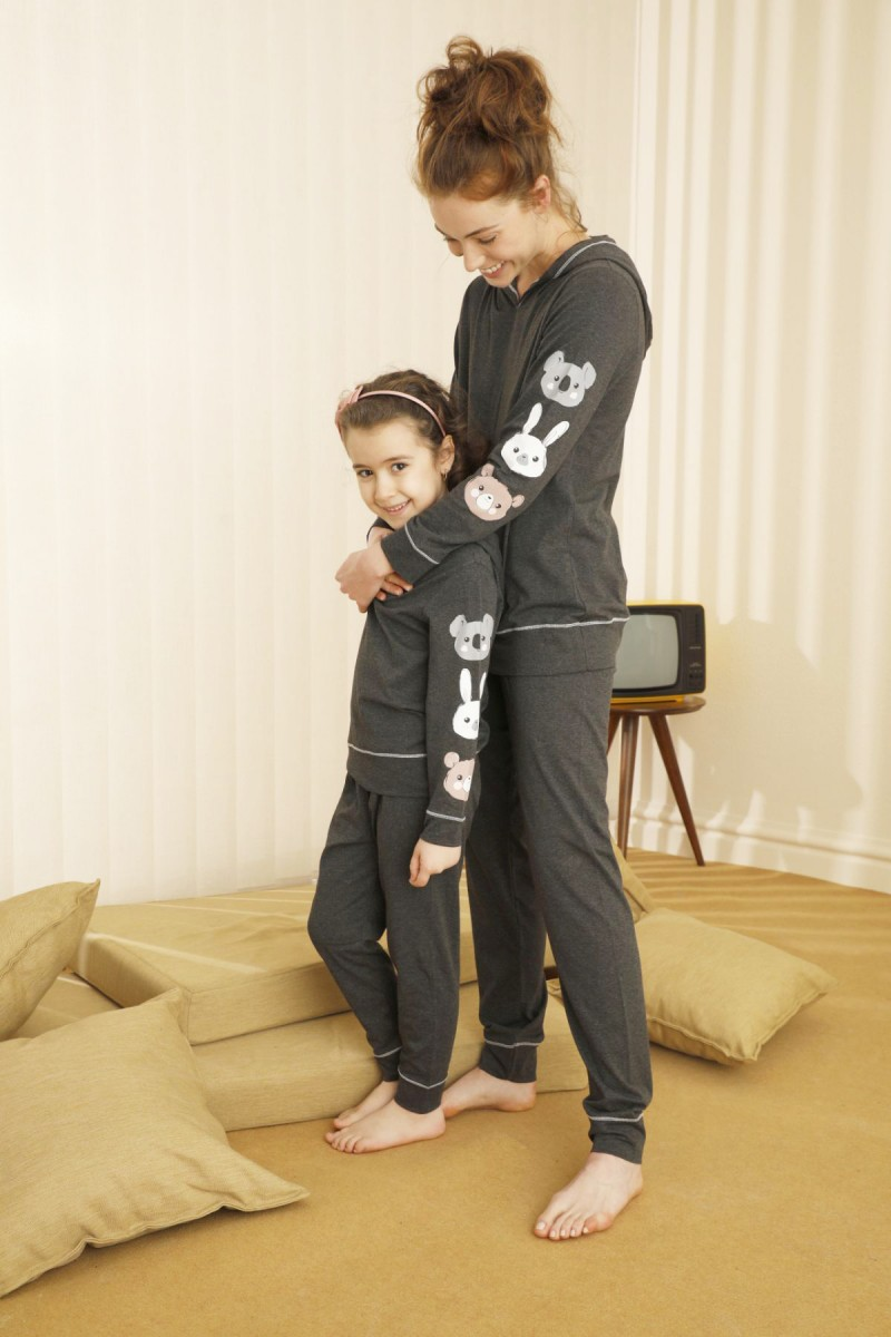 SİYAH İNCİ - Pamuklu Likralı Pijama Takım 21263125