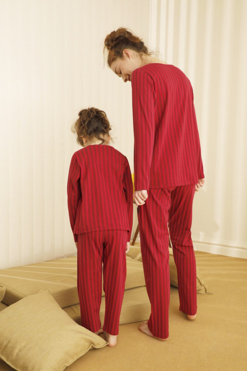 SİYAH İNCİ - Pamuklu Likralı Pijama Takım 21263126