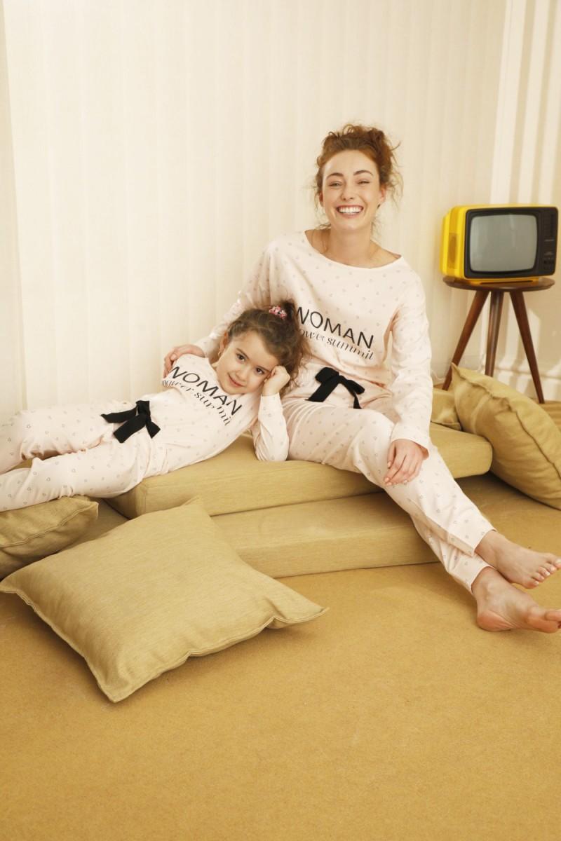 SİYAH İNCİ - Pamuklu Likralı Pijama Takım 21263127