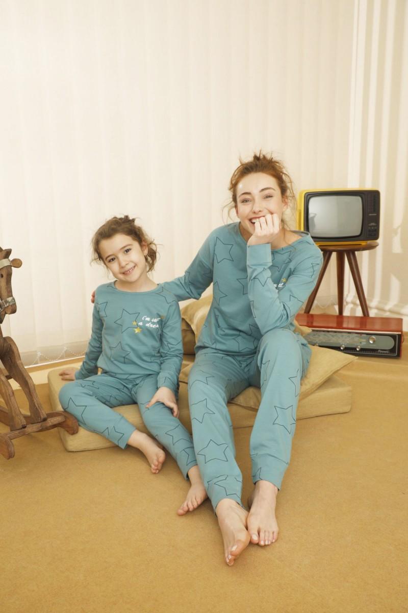 SİYAH İNCİ - Pamuklu Likralı Pijama Takım 21263130