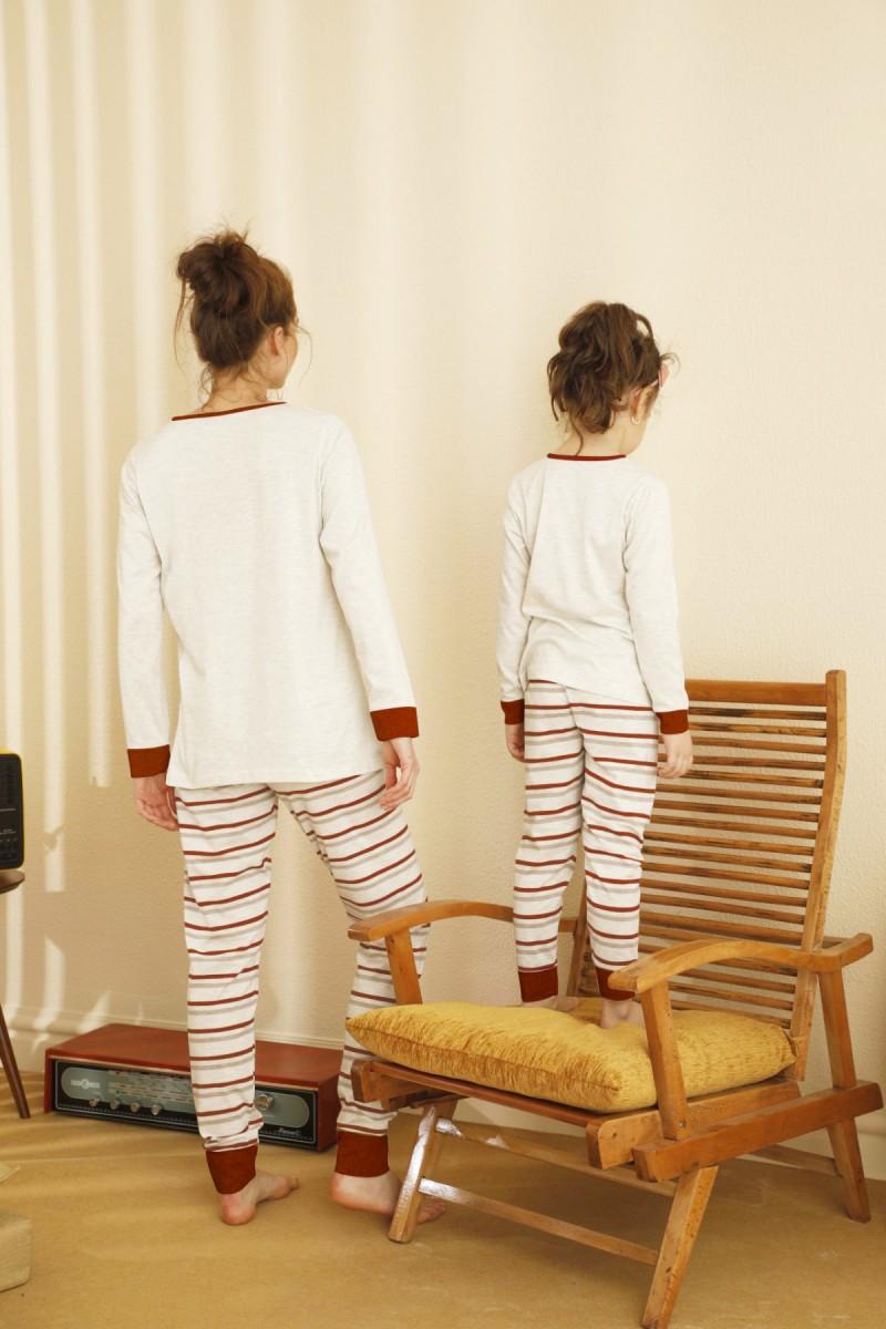 SİYAH İNCİ - Pamuklu Likralı Pijama Takım 21263131