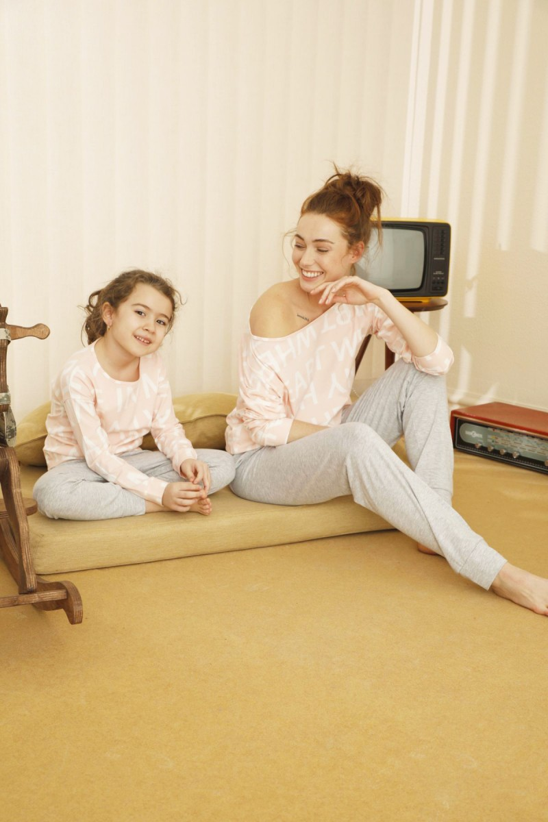 SİYAH İNCİ - Pamuklu Likralı Pijama Takım 21263136