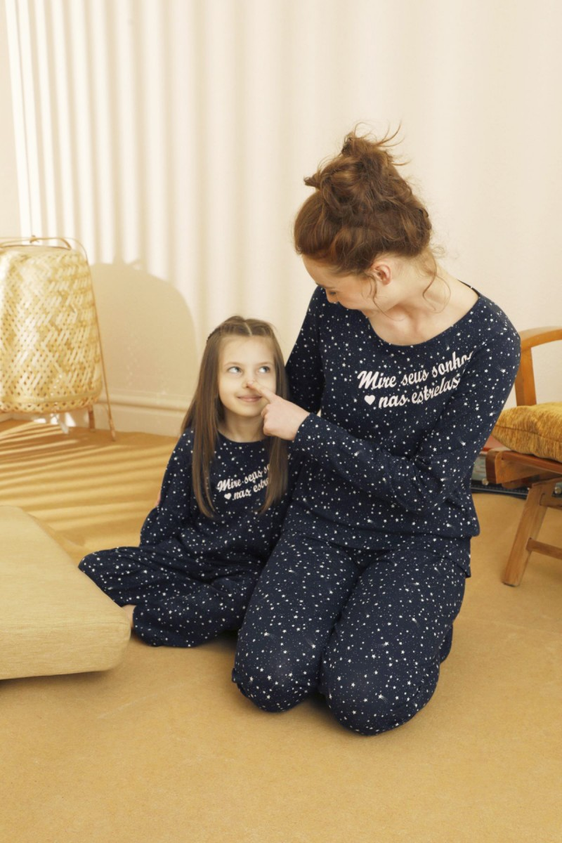 SİYAH İNCİ - Pamuklu Likralı Pijama Takım 21263169