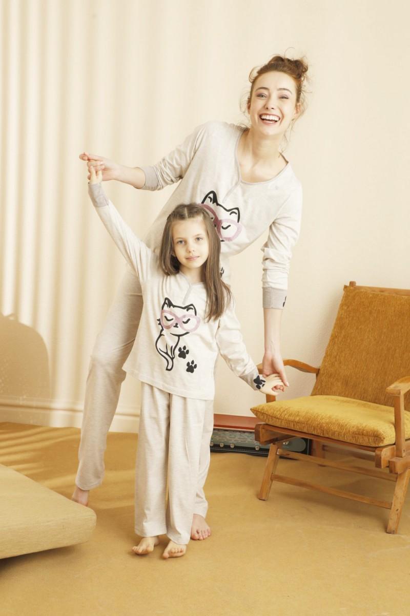 SİYAH İNCİ - Pamuklu Likralı Pijama Takım 21263186