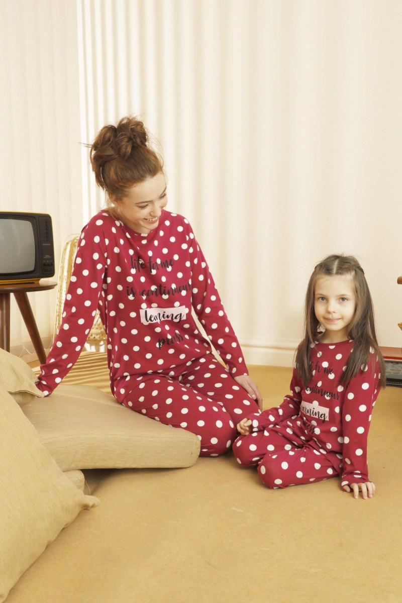 SİYAH İNCİ - Pamuklu Likralı Pijama Takım 21263190