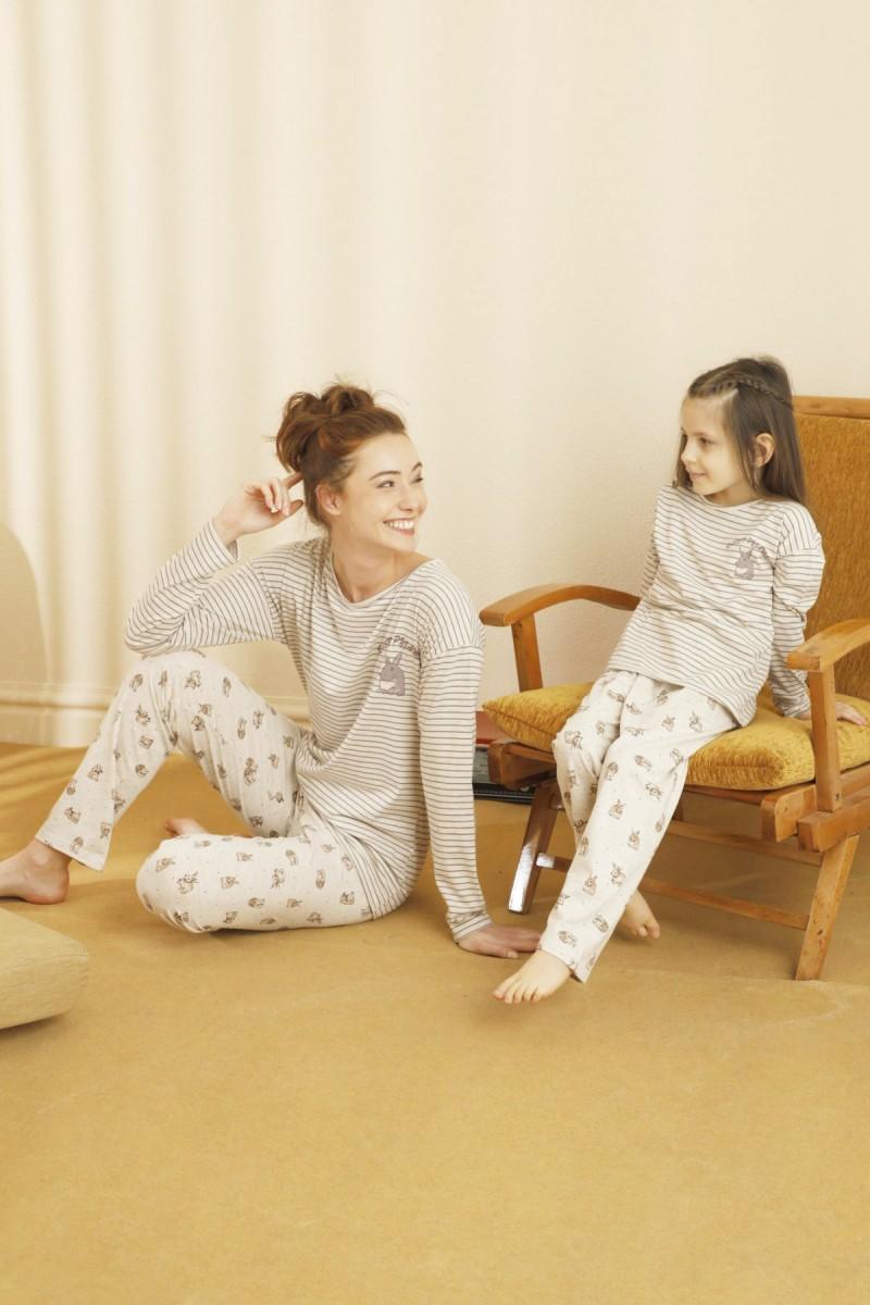 SİYAH İNCİ - Pamuklu Likralı Pijama Takım 21263192