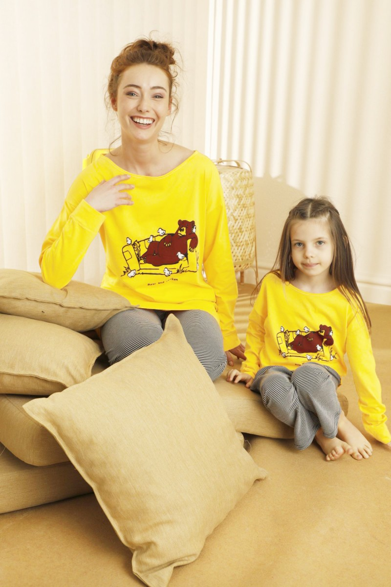 SİYAH İNCİ - Pamuklu Likralı Pijama Takım 21263195