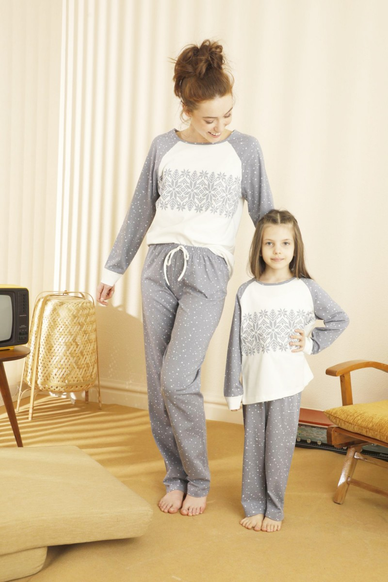 SİYAH İNCİ - Pamuklu Likralı Pijama Takım 21263202