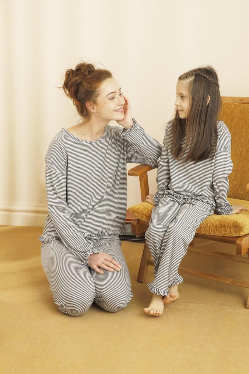 SİYAH İNCİ - Pamuklu Likralı Pijama Takım 21263206