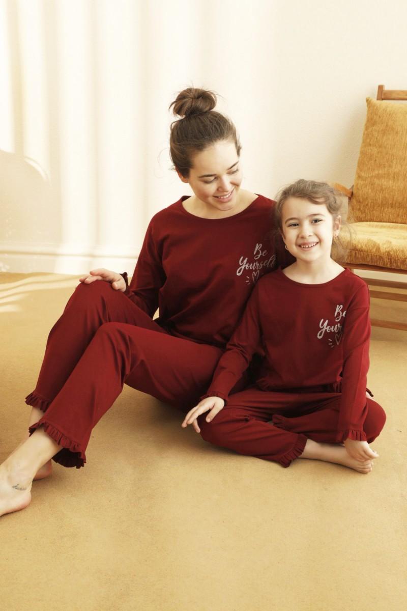 SİYAH İNCİ - Pamuklu Likralı Pijama Takım 21263215