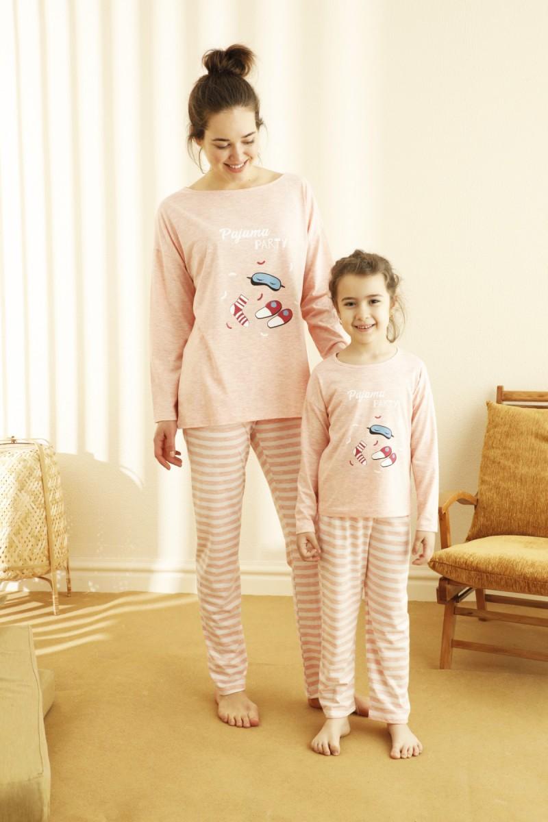 SİYAH İNCİ - Pamuklu Likralı Pijama Takım 21263217