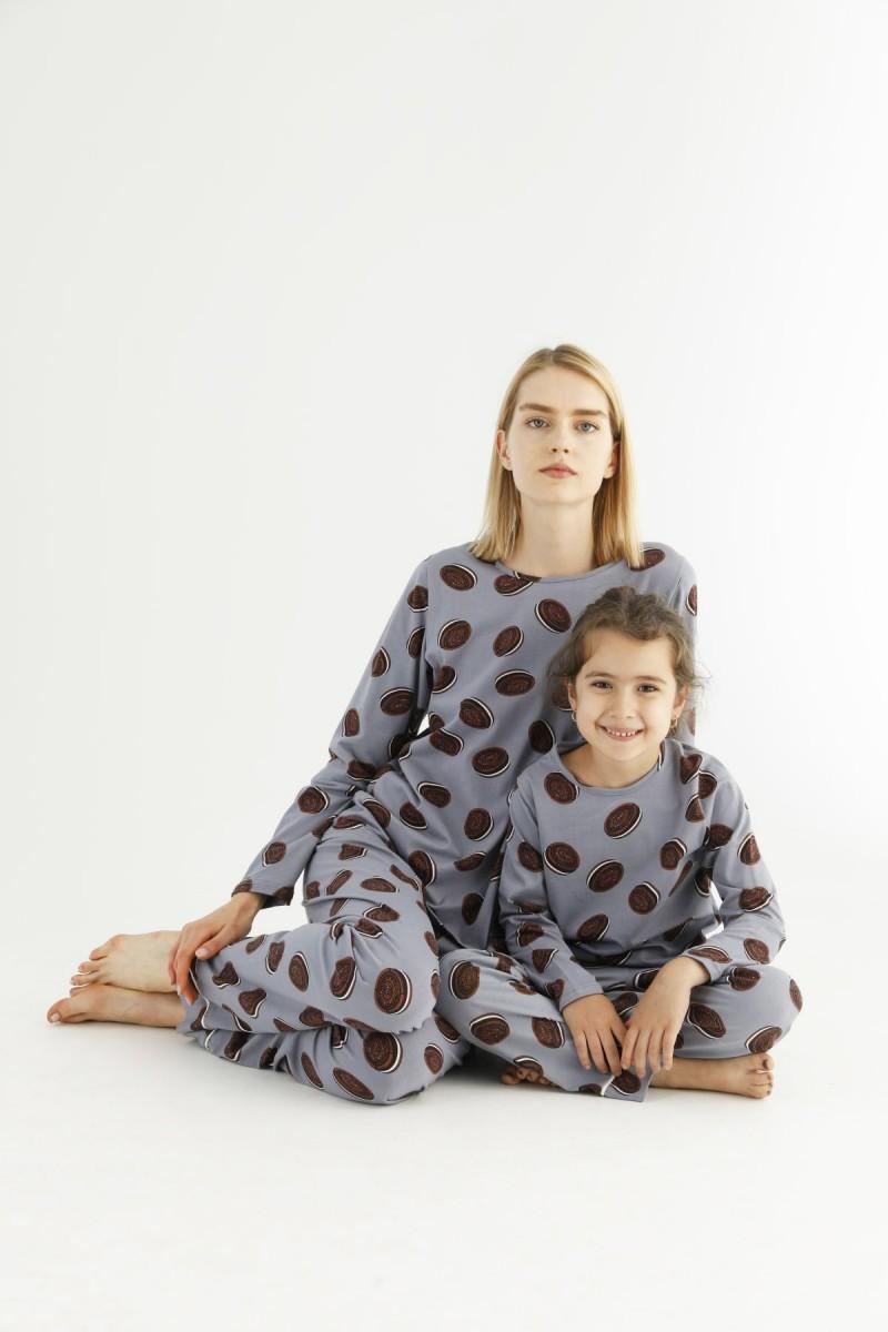 SİYAH İNCİ - Pamuklu Likralı Pijama Takım 21263219