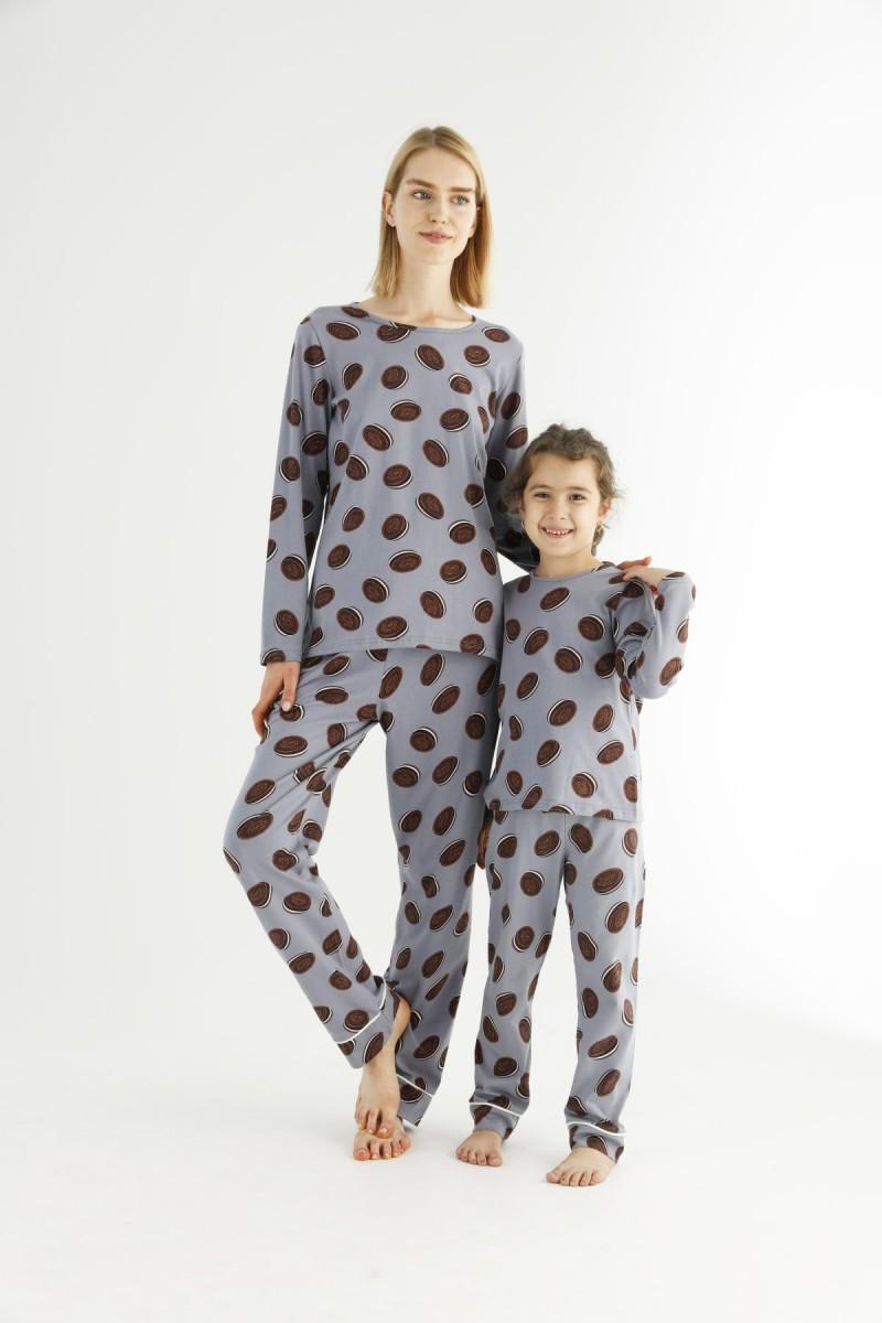 SİYAH İNCİ - Pamuklu Likralı Pijama Takım 21263219 (1)