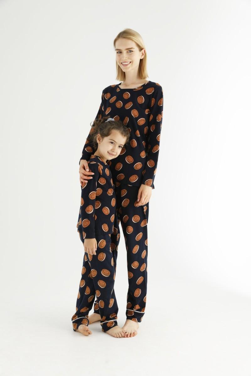 SİYAH İNCİ - Pamuklu Likralı Pijama Takım 21263220 (1)