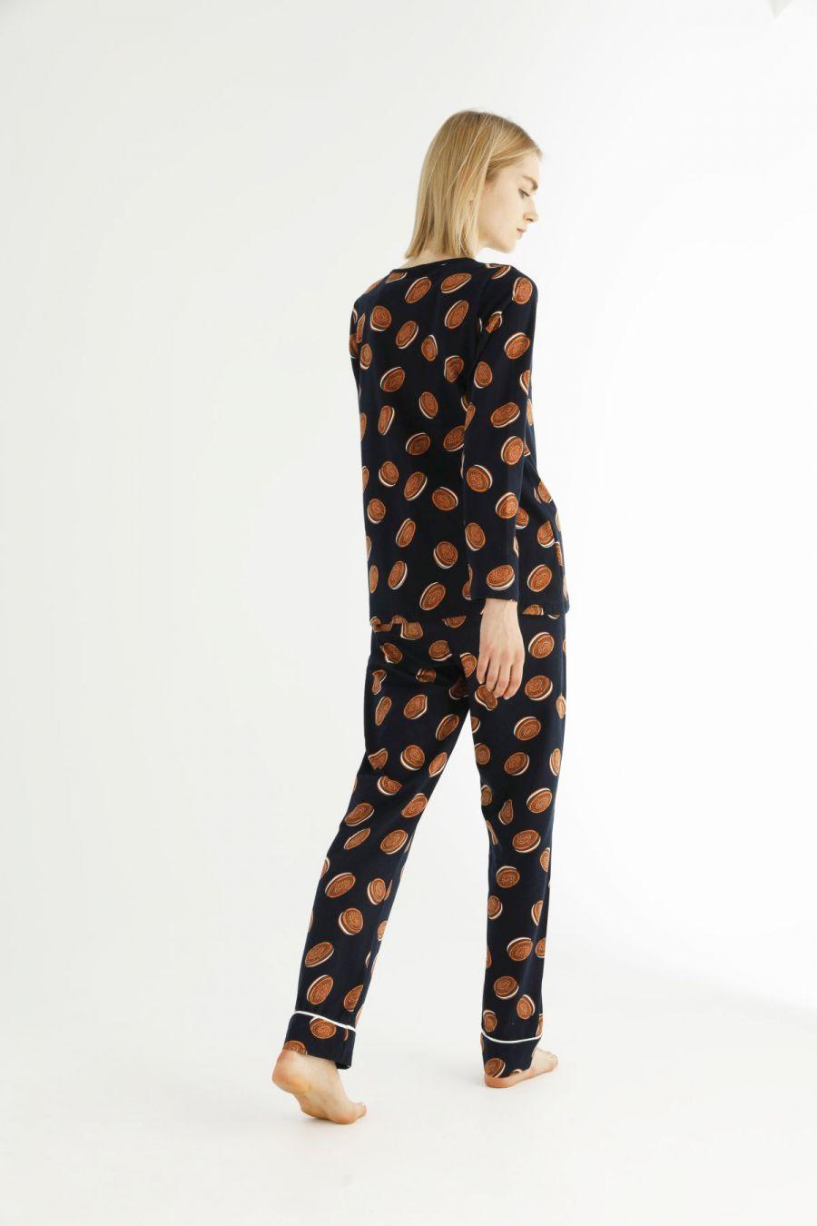 Pamuklu Likralı Pijama Takım 21263220