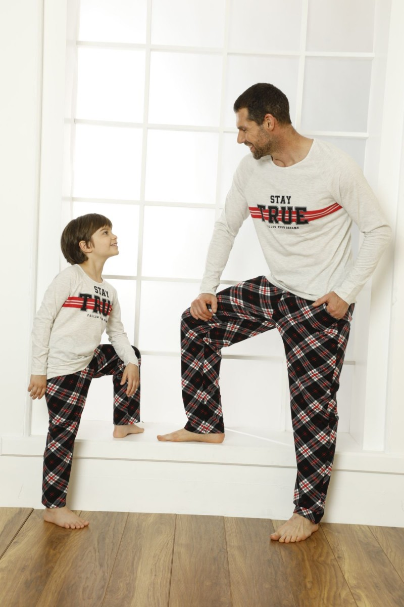 SİYAH İNCİ - Pamuklu Likralı Pijama Takım 21269508