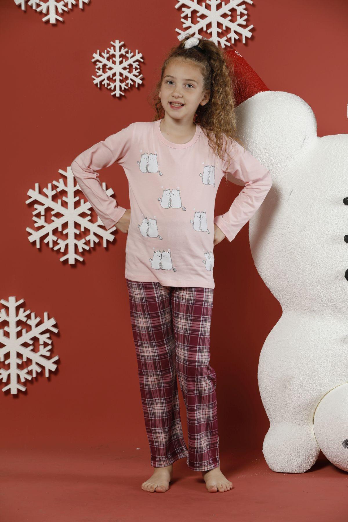 Pamuklu Likralı Pijama Takım