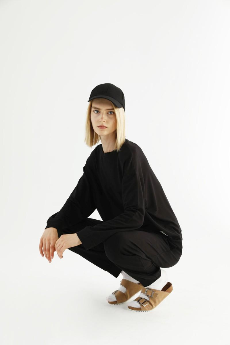 SİYAH İNCİ - Siyah Cepli Eşofman-Sweatshirt Takım 21278021