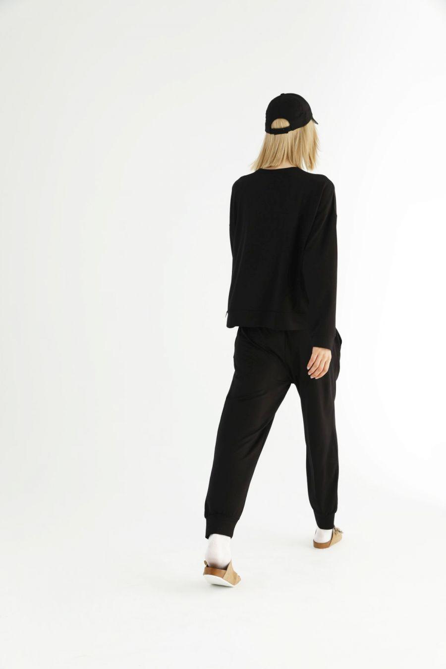 Siyah Cepli Eşofman-Sweatshirt Takım 21278021