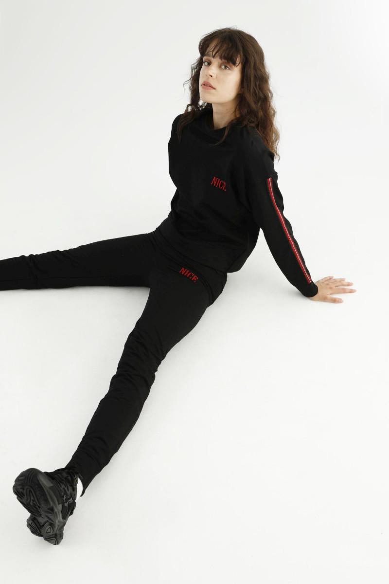 SİYAH İNCİ - Siyah Eşofman-Sweatshirt Takım 21278034