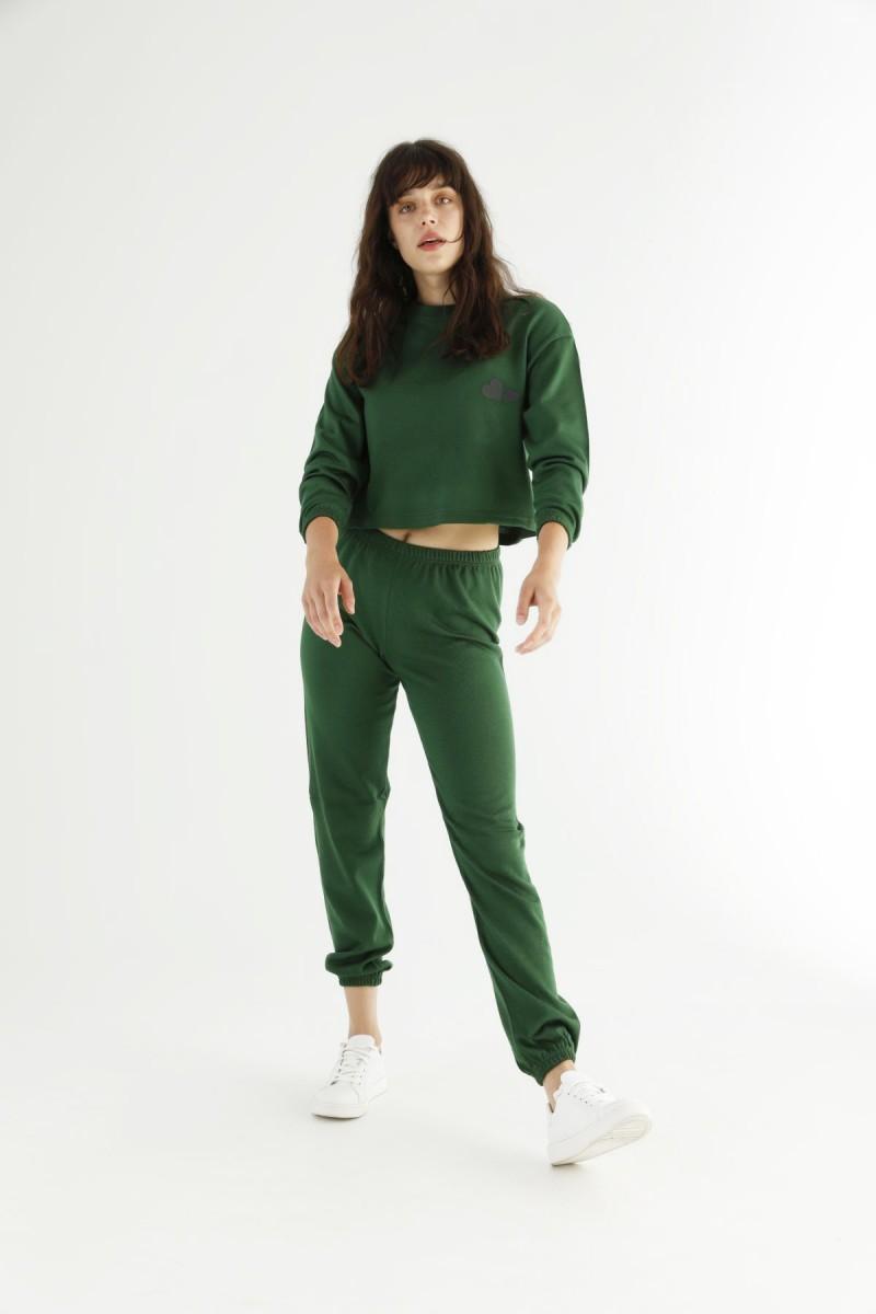 SİYAH İNCİ - Yeşil Alt-Üst Triko Takım 21278081
