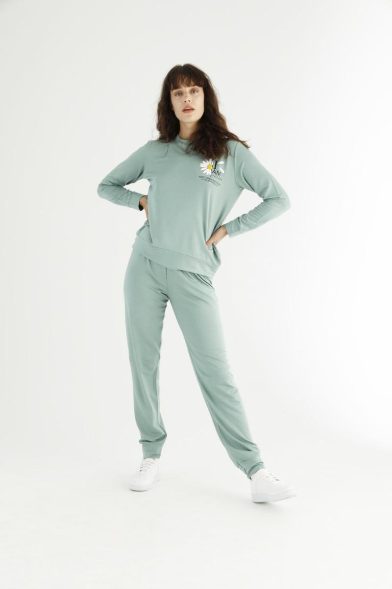 SİYAH İNCİ - Yeşil Eşofman-Sweatshirt Takım 21278039
